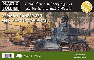 Plastic Soldier Company German Panzer 38(t) and Marder Variants