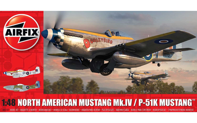 A05137 Airfix North American Mustang Mk.IV /  P-51K  1:48 Scale